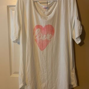 NWT LuLaRoe 3XL Morgan! Love in pink heart!